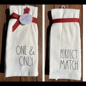 Rae Dunn PERFECT MATCH Kitchen Hand Towels  #1730